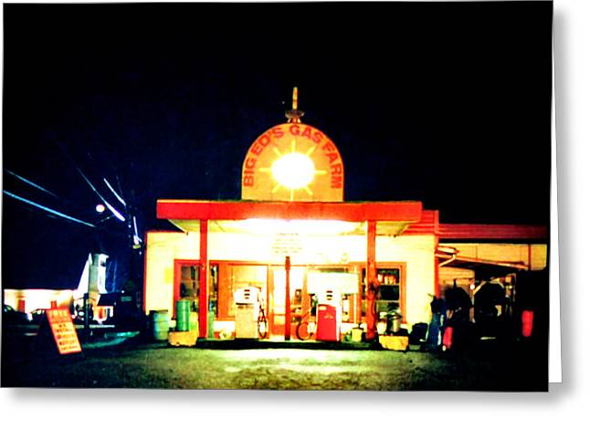 Big Eds Gas Farm Greeting Card by Luis Ludzska
