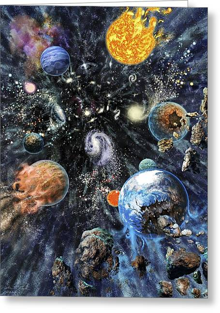 Big Rip End To The Universe Greeting Card by Nicolle R. Fuller