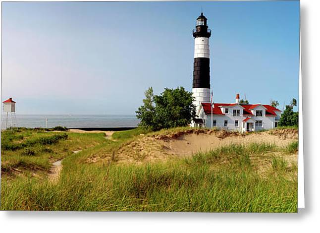 Big Sable Point Lighthouse, Lake Greeting Card by Panoramic Images