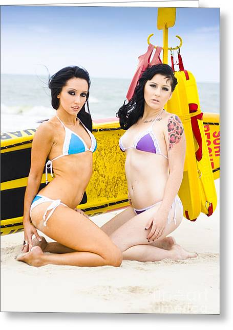 Bikini Girls Greeting Card