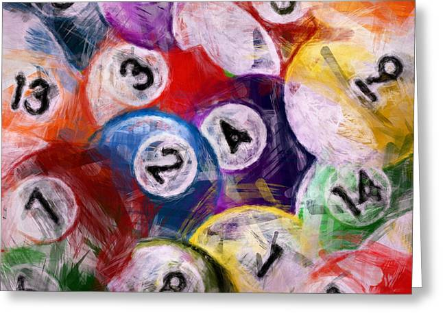 Billiards Collage Greeting Card by David G Paul