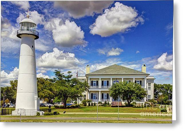 Biloxi Lighthouse And Visitors Center Greeting Card