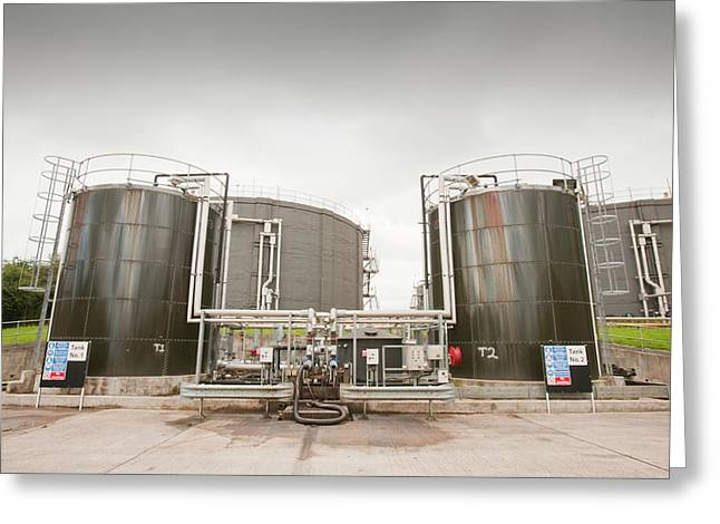 Biodigesters At Sewage Plant Greeting Card