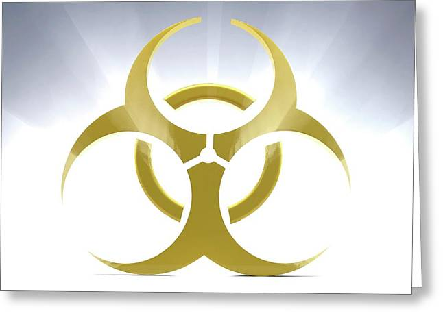 Biohazard Symbol Greeting Card