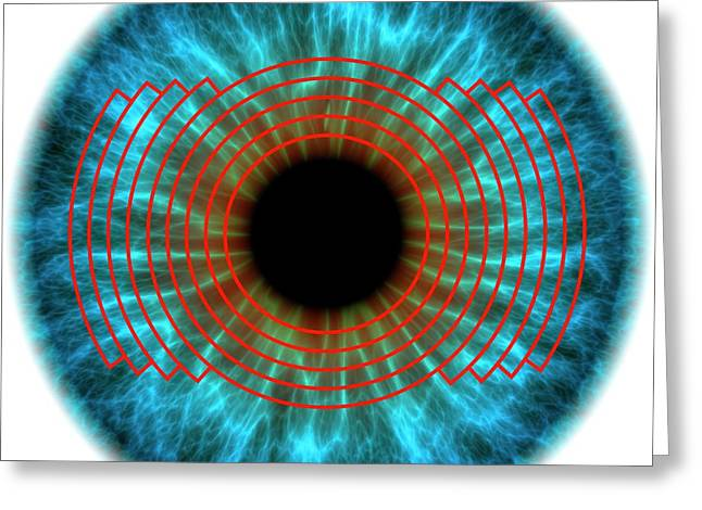 Biometric Eye Scan Greeting Card by Alfred Pasieka