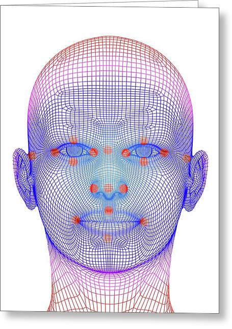 Biometric Facial Map Greeting Card