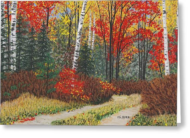 Birch Trail Greeting Card