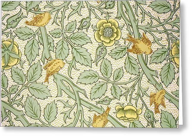 Bird Wallpaper Design Greeting Card by William Morris