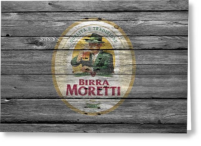 Birra Moretti Greeting Card by Joe Hamilton
