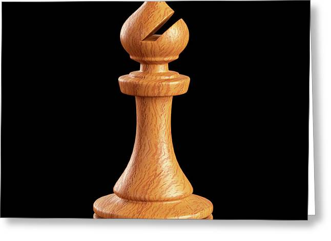Bishop Chess Piece Greeting Card by Ktsdesign