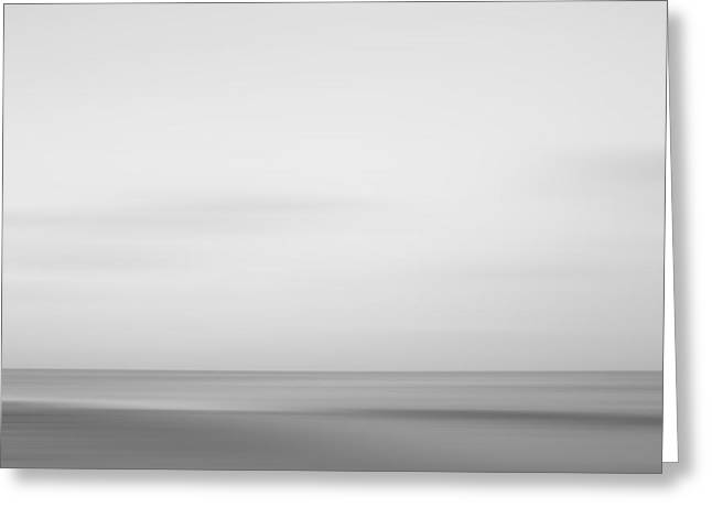 Black And White Abstract Seascape No. 01 Greeting Card