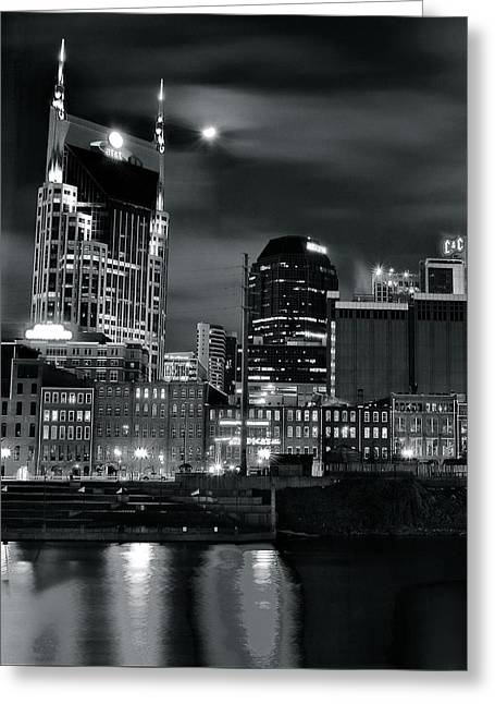 Black And White Nashville Greeting Card by Frozen in Time Fine Art Photography