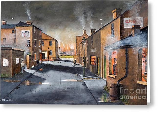 Black Country Village From The Boat Yard Greeting Card