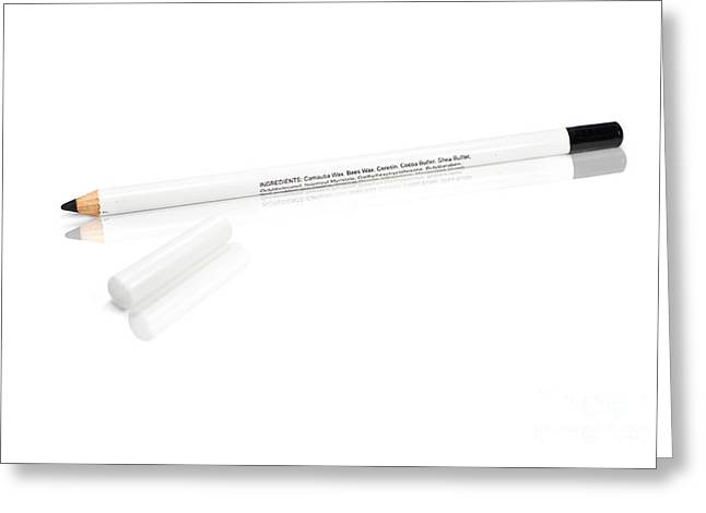 Black Eye Makeup Pencil Greeting Card by Jorgo Photography - Wall Art Gallery