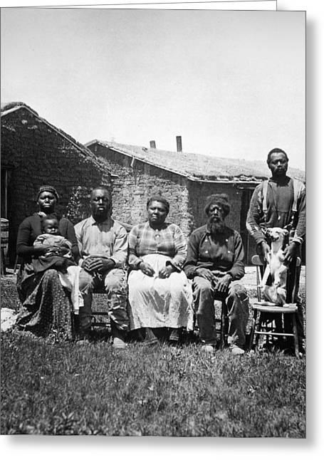 Black Homesteaders Greeting Card