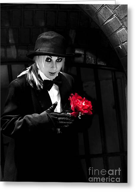 Black Magician With Surprise Gift Greeting Card by Jorgo Photography - Wall Art Gallery