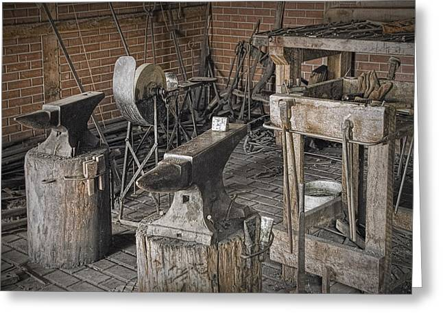 Black Smith Shop In Fort Edmonton Greeting Card