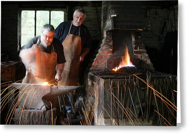 Blacksmith Greeting Card by Stephen Norris