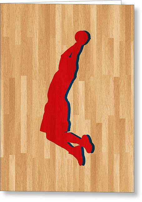 Blake Griffin Los Angeles Clippers Greeting Card by Joe Hamilton