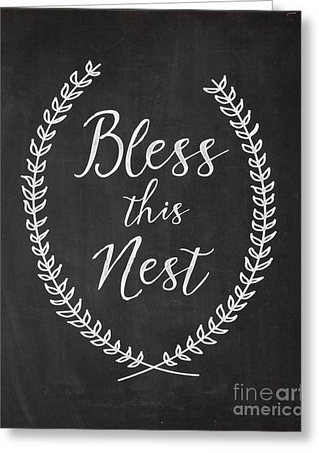 Bless This Nest Greeting Card by Natalie Skywalker