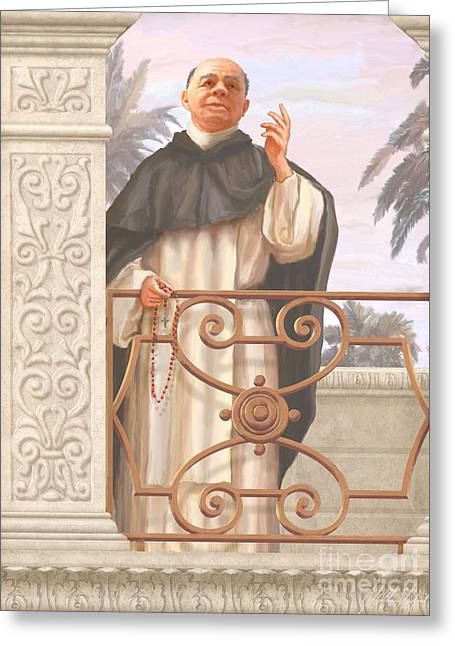 Blessed Father Lucas Greeting Card by John Alan  Warford