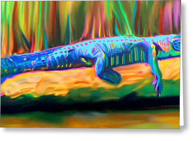 Blue Alligator Greeting Card