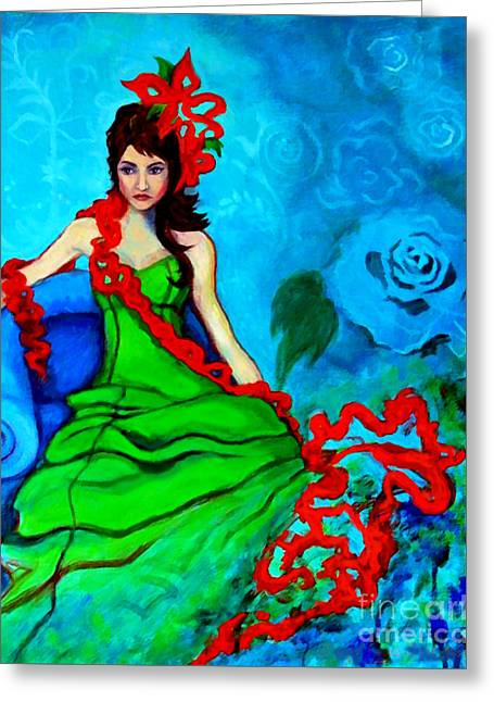 Blue Compliments Greeting Card