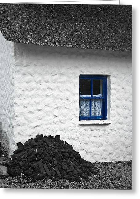 Greeting Card featuring the photograph Blue Cottage Window by Jane McIlroy