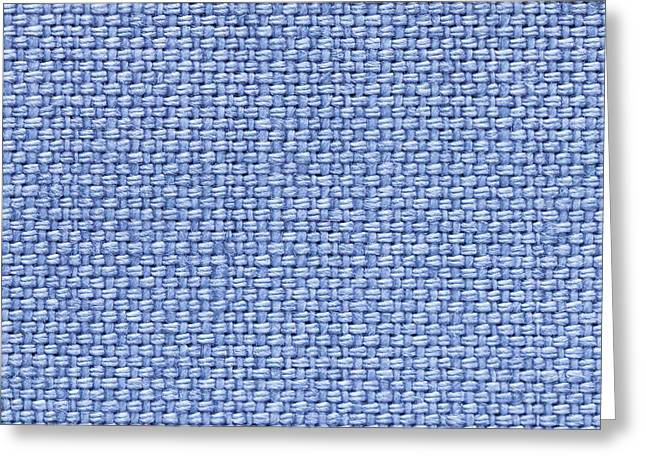Blue Cotton Greeting Card