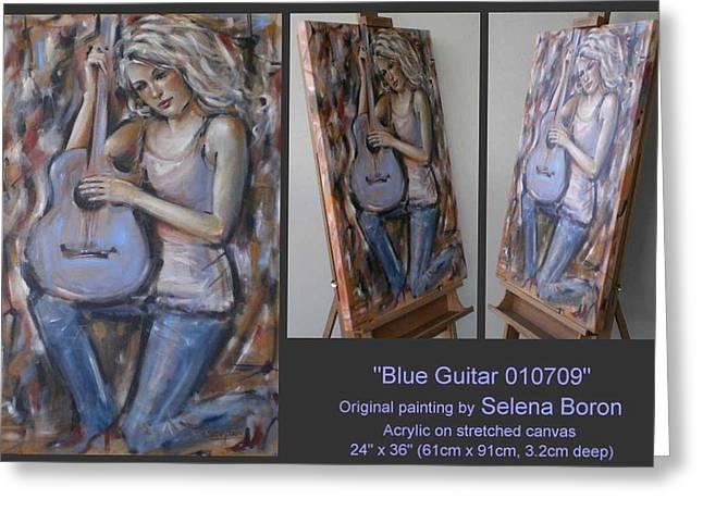 Blue Guitar 010709 Greeting Card