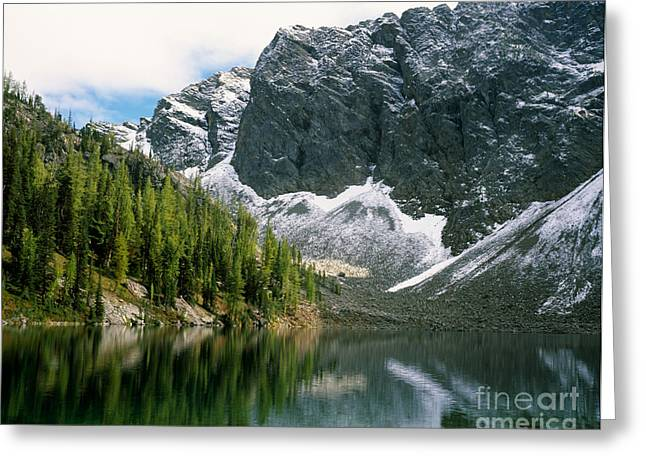 Blue Lake Greeting Card by Tracy Knauer
