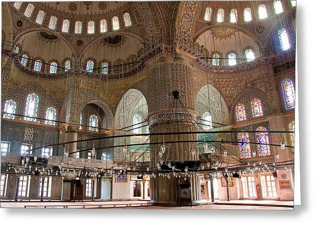 Blue Mosque Wide Greeting Card by Cliff C Morris Jr