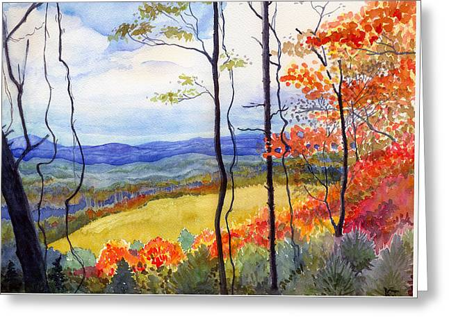 Blue Ridge Mountains Of West Virginia Greeting Card
