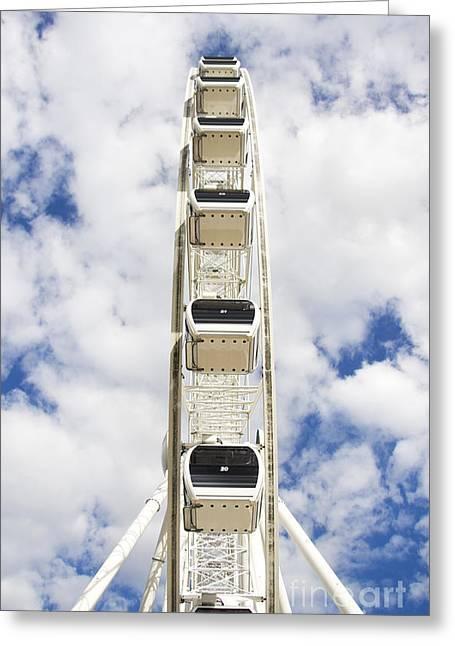 Blue Sky Wheel Greeting Card by Jorgo Photography - Wall Art Gallery