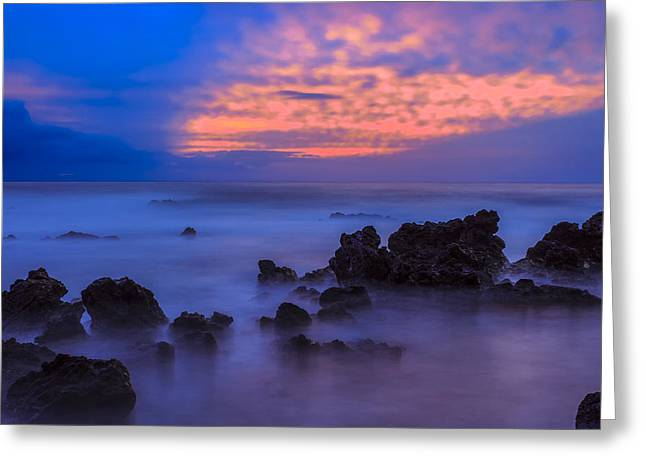 Blue Sunrise 1 Greeting Card