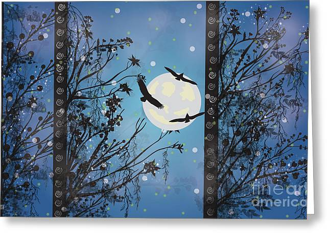 Blue Winter Greeting Card