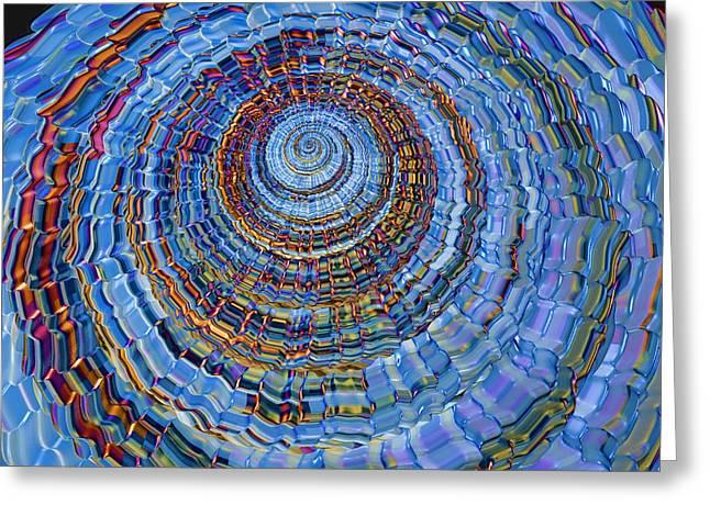 Blue World Greeting Card by Deborah Benoit
