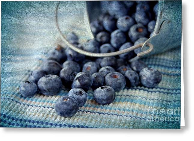 Blueberries Greeting Card by Darren Fisher