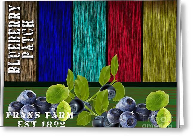 Blueberry Patch Greeting Card by Marvin Blaine