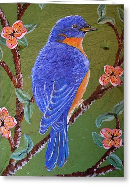 Bluebird Greeting Card by Cecilia Stevens