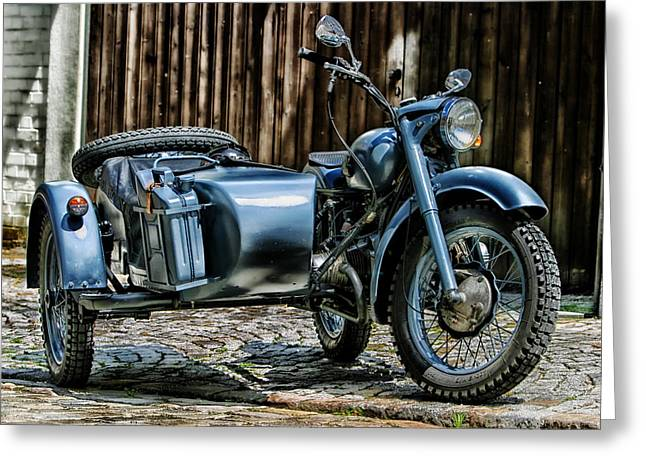 Bmw 500 Sidecar Greeting Card by Pixabay