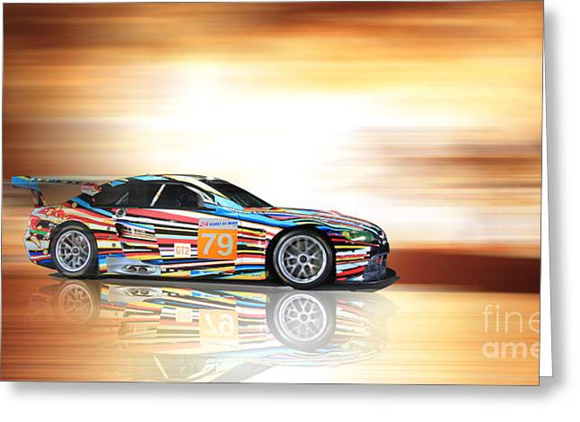 Bmw M3 Art Car Greeting Card