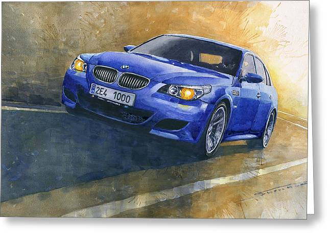 Bmw M5 2006  Greeting Card by Yuriy Shevchuk