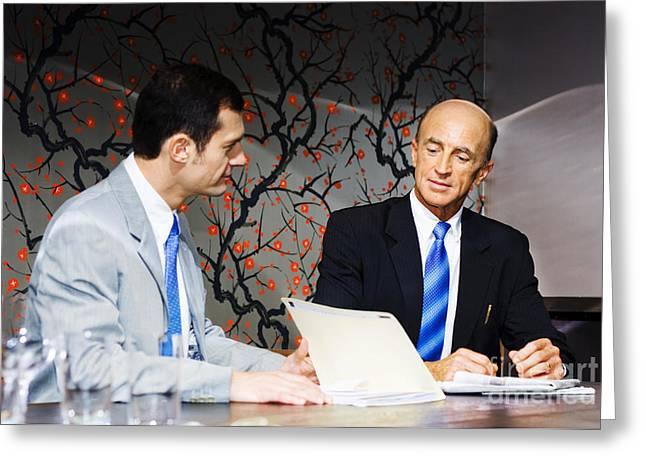 Boardroom Business Meeting Greeting Card