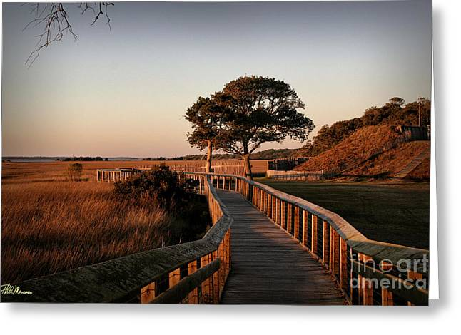 Boardwalk At Fort Fisher Greeting Card