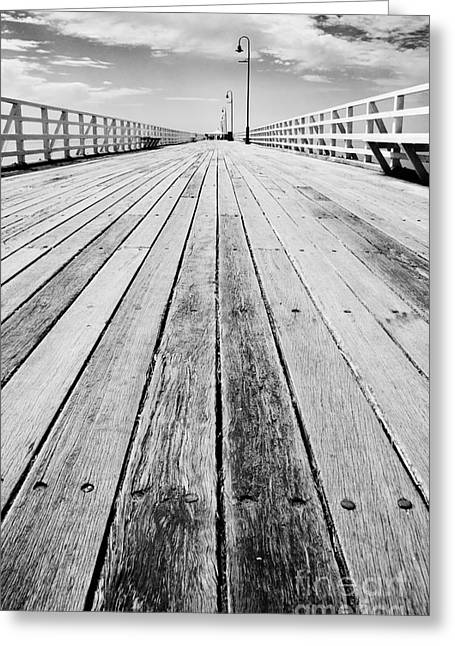 Boardwalk Of Distance Greeting Card by Jorgo Photography - Wall Art Gallery