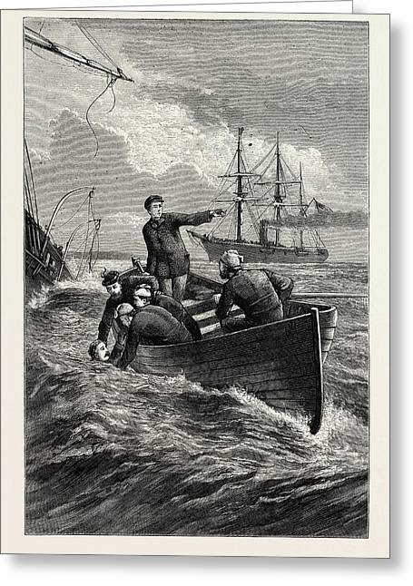 Boat Of The Deerhound Rescuing Captain Semmes Greeting Card by American School