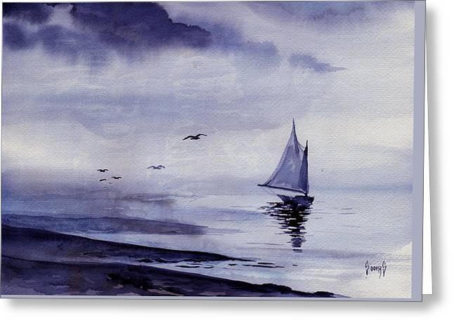 Boat Greeting Card by Sam Sidders