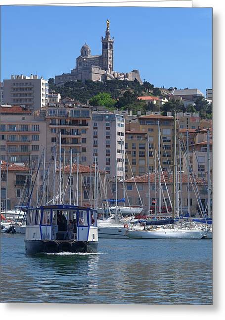 Boats At Old Port, Marseille Greeting Card