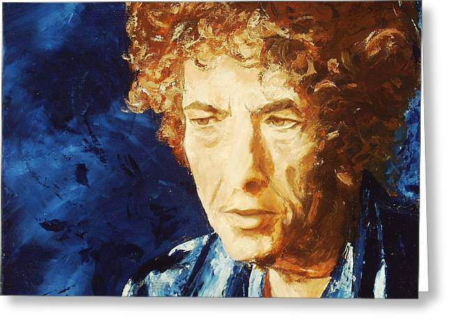 Bob Dylan Greeting Card by Willem Arendsz